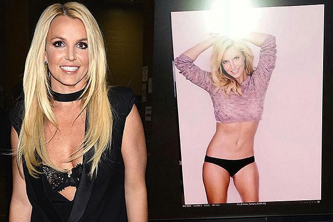 Ради рекламы линии белья Бритни Спирс сильно похудела