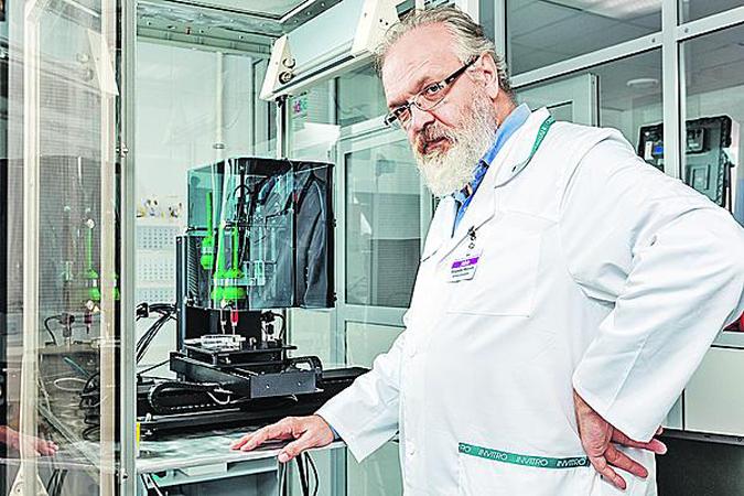 Владимир Миронов создал первый отечественный биопринтер. Со временем, он собирается строить целые заводы по производству органов. Фото: bioprinting.ru