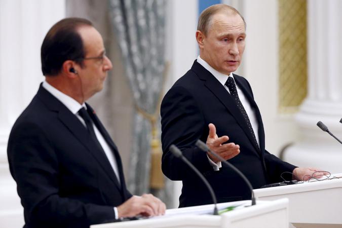 Путин и Олланд договорились вместе сражаться с терроризмом