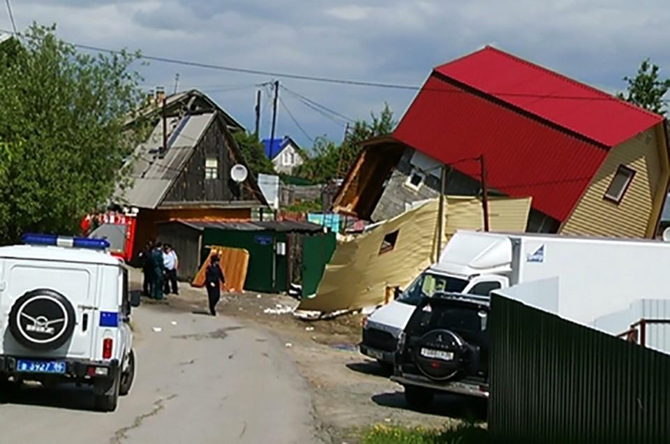 ВХанты-Мансийске дом встал надыбы из-за взрыва