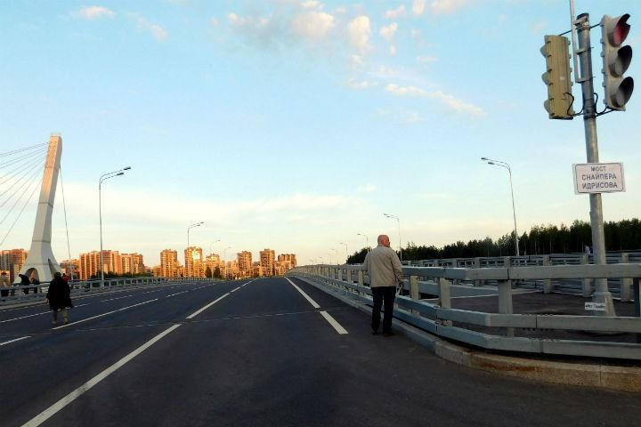 """На мосту развесили таблички Фото: предоставлено движением """"Солидарность"""""""