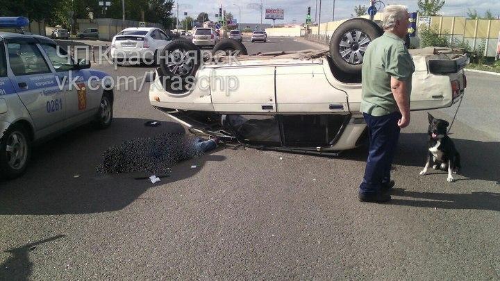 ВКрасноярске вДТП погибла престарелая пассажирка перевернувшихся «Жигулей»