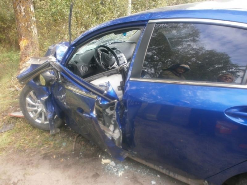 ВРыбинске «Мазда» врезалась вдерево: погибла шофёр