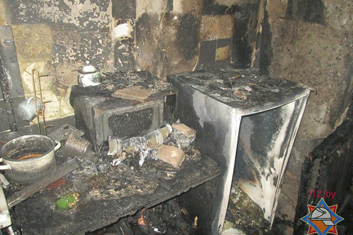 ВВитебске из-за пожара вмногоэтажке эвакуировали несколько человек