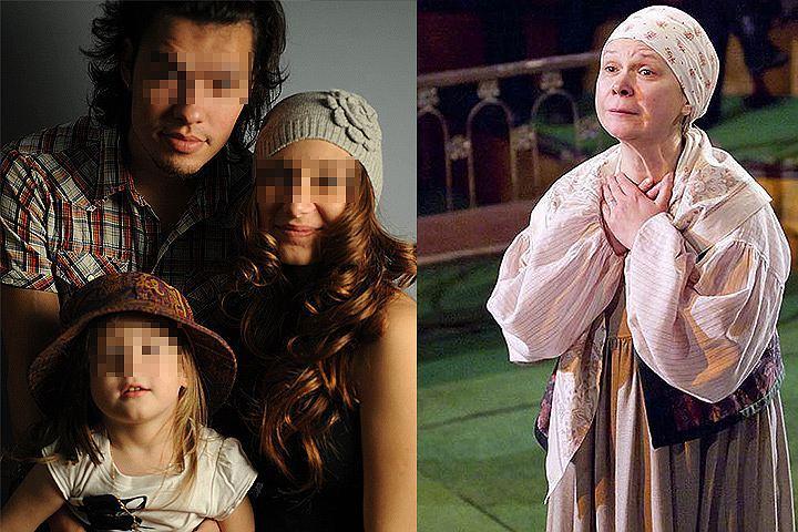 Актриса Надежда Перцева (справа) и бывшая семья её дочери.