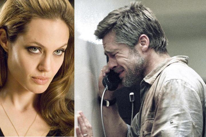 Анджелина, встретившись с мужем, не сказала ему ни слова. Фото: кадры из фильмов.
