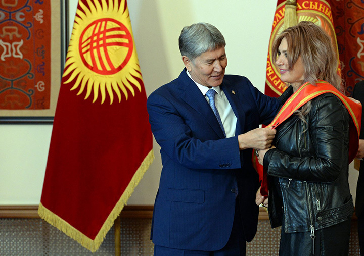 Светлана Назаренко удостоена медали «Даңк».