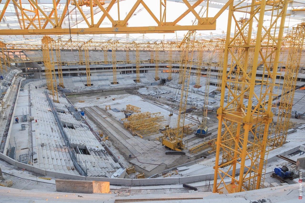 Монтаж конструкций кровли завершен на«Ростов-Арене»