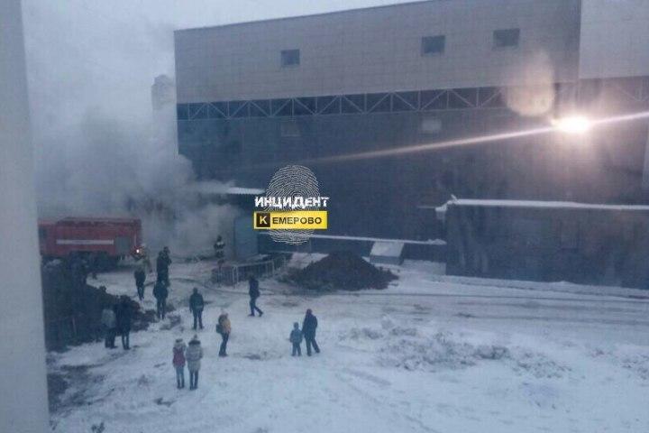 ВКемерове зажегся ТЦ «Север»