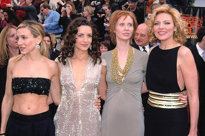 Актрисы сериала перед премьерой нового сезона в 2001 году.