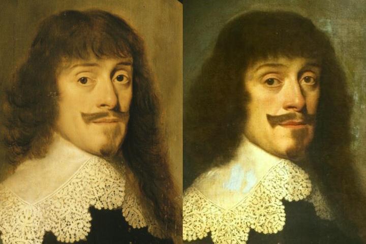 Портрет Вильгельма V. Слева - на сайте Версаля, справа - на сайте нидерландского Института истории искусства.