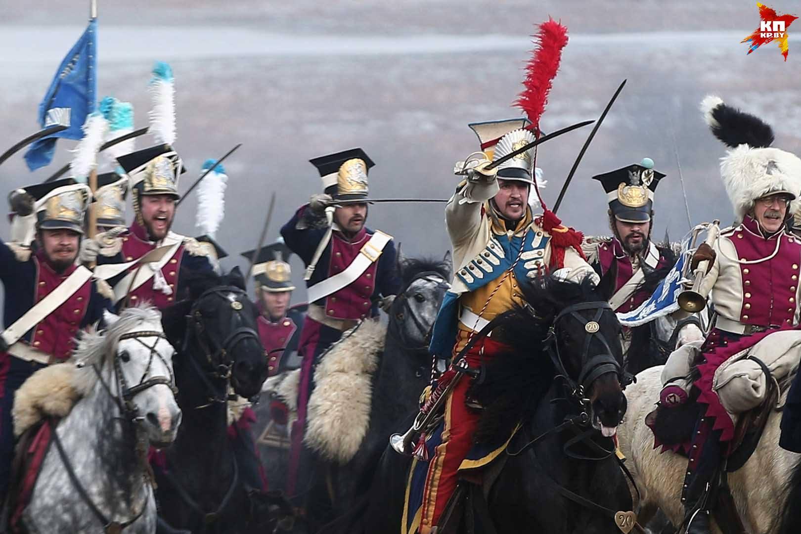 Под Борисовом провели реконструкцию сражения между Наполеоновской армией русским войском