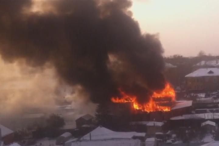 ВЧелябинске пожар уничтожил коттедж