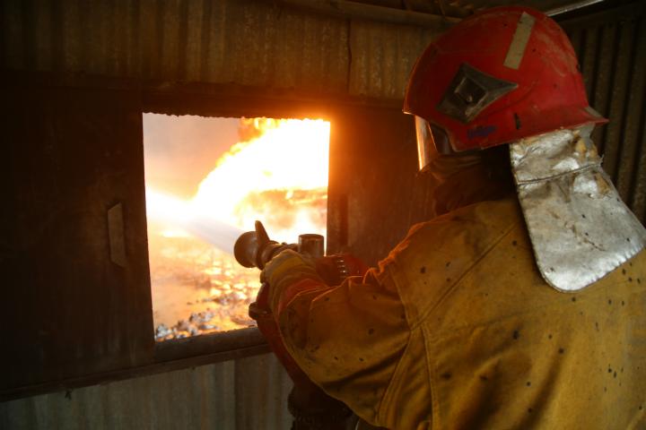 ВОмской области горел детский парк