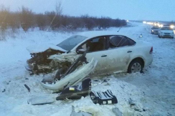 НаСтаврополье столкнулись две иномарки, трое пострадали