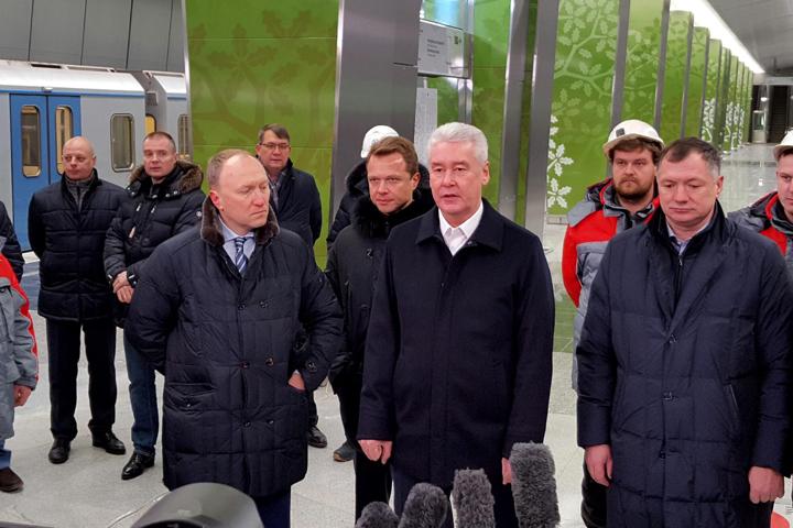 Собянин: Участок метро «Деловой центр— Раменки» откроется совсем скоро