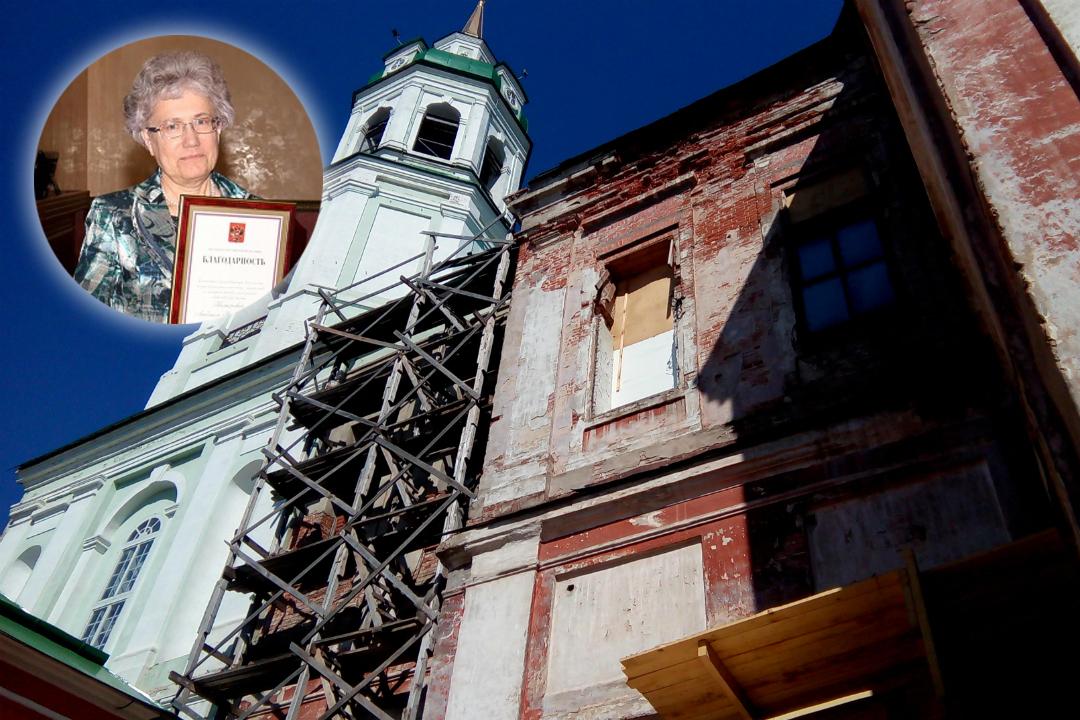 Людмила Комарова завещала накопленные ею премиальные на восстановление Спасского собора. Фото: spasskysobor.ru
