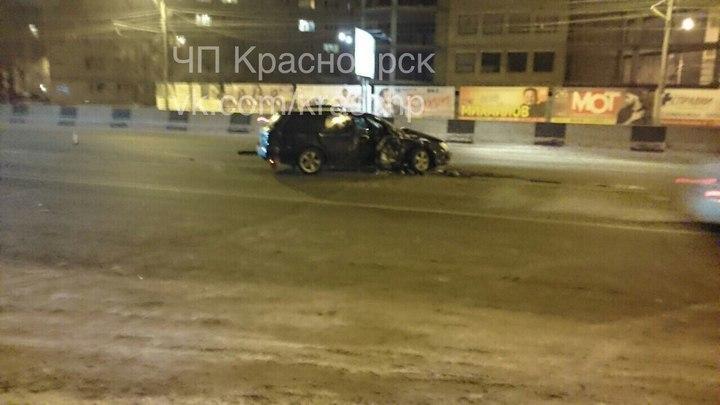 Четверо пострадали вДТП ВMW и Субару наПартизана вКрасноярске