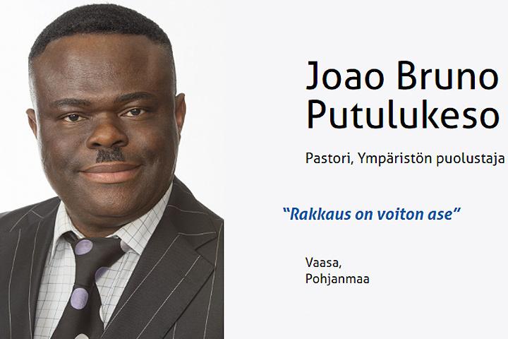 Финские националисты выдвинули в народные избранники темнокожего пастора