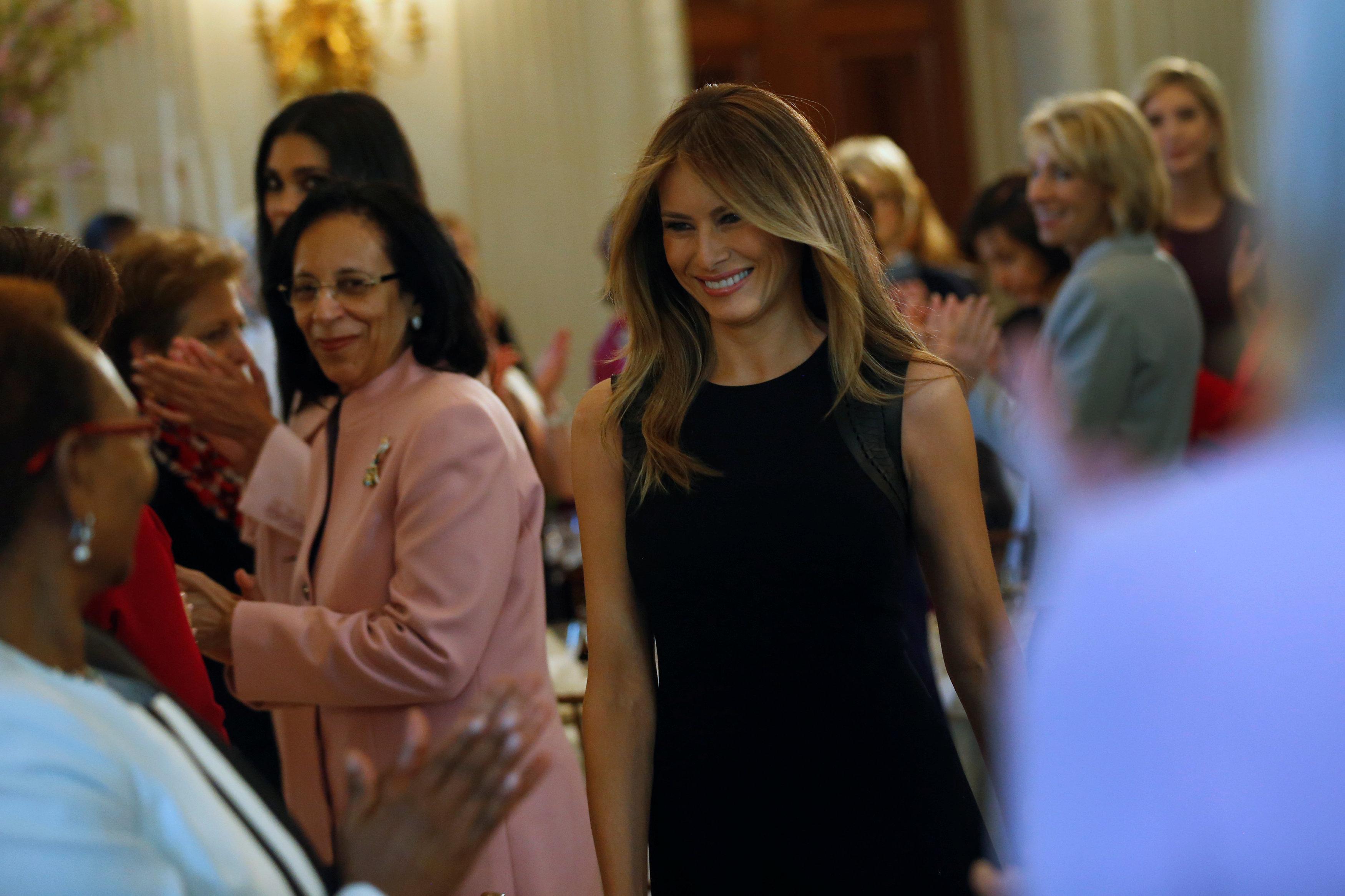 Меланья Трамп дала обед вчесть интернационального женского дня