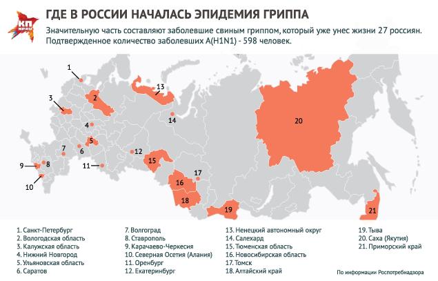 Распространение вируса гриппа в РФ. Фото: Рушан КАЮМОВ