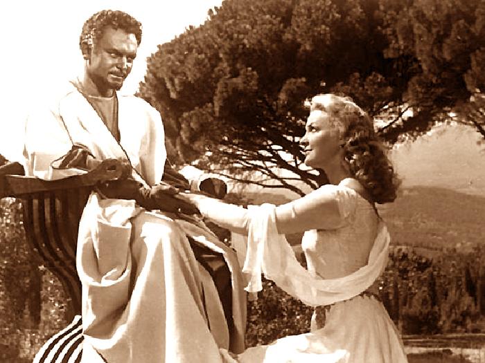 Они встретились на съемках «Отелло» - но их отношения развивались отнюдь не так драматически, как у мавра с Дездемоной