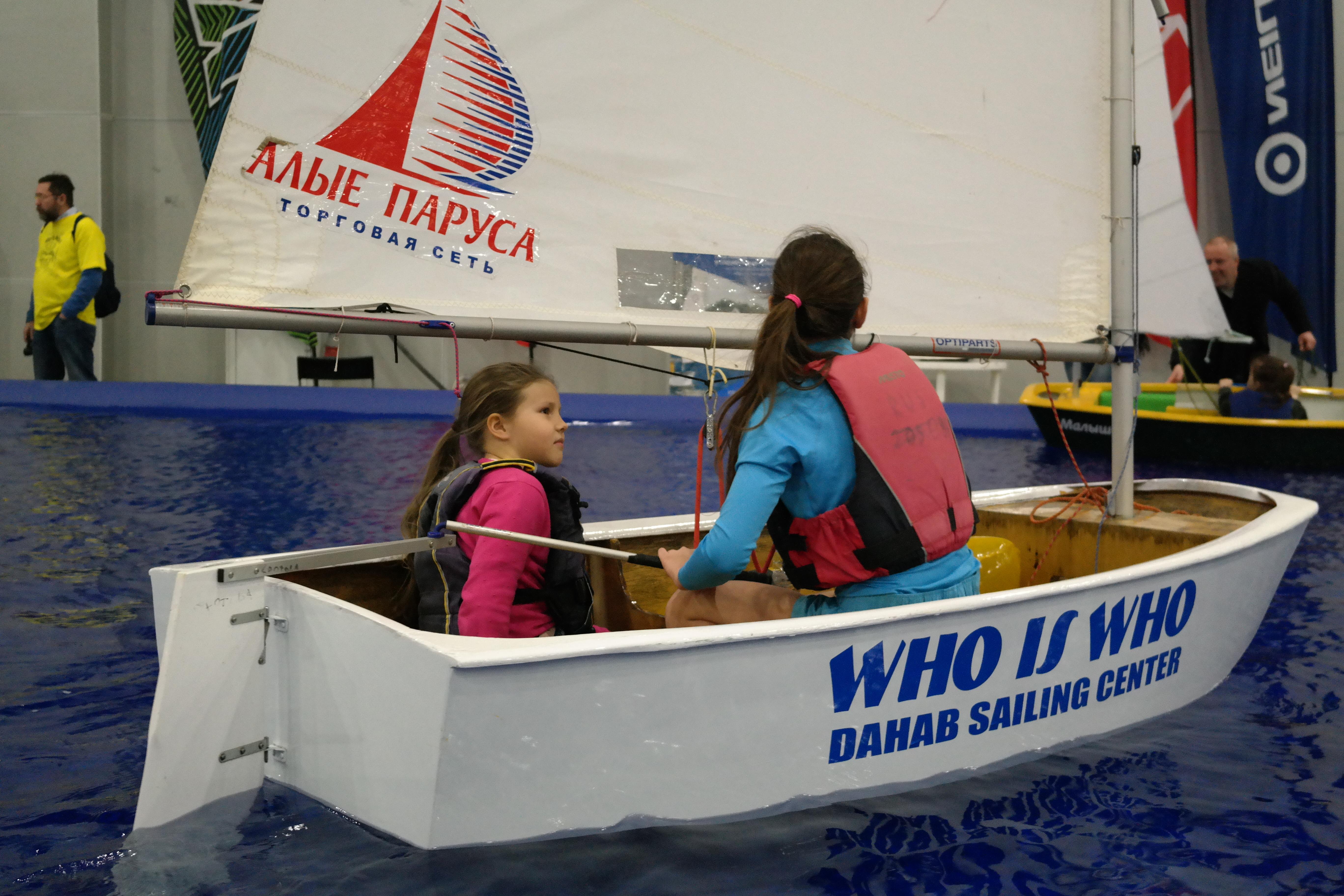 На Moscow Boat Show можно узнать, как записать ребенка в парусную спортивную школу. Фото: Юлия СМИРНОВА