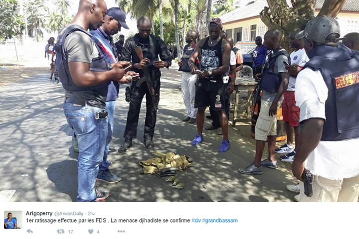 Очевидцы рассказали, что нападавшие выкрикивали исламистские лозунги во время бойни. Фото: twitter.com/anicetdally