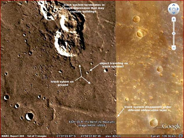 """""""Транспортная система"""" расположена в 900 километрах от кратера Гейла"""