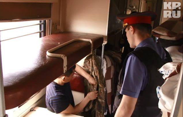 Проверка документов в поезде Совгавань-Владивосток