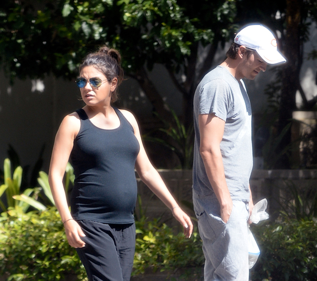 Во время беременности Мила ведет замкнутый образ жизни и практически не появляется на публике. Фото: SPLASH NEWS