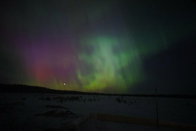 Северное сияние в Подмосковье. Фото: СОЦСЕТИ