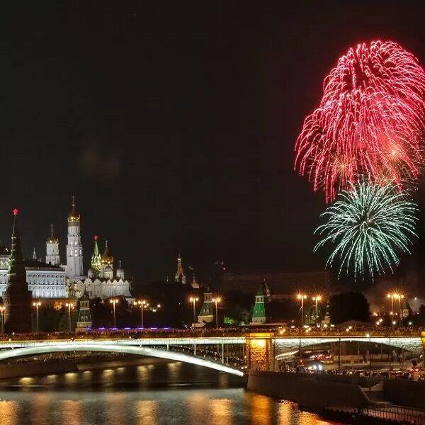 Салют в Парке Горького на День города