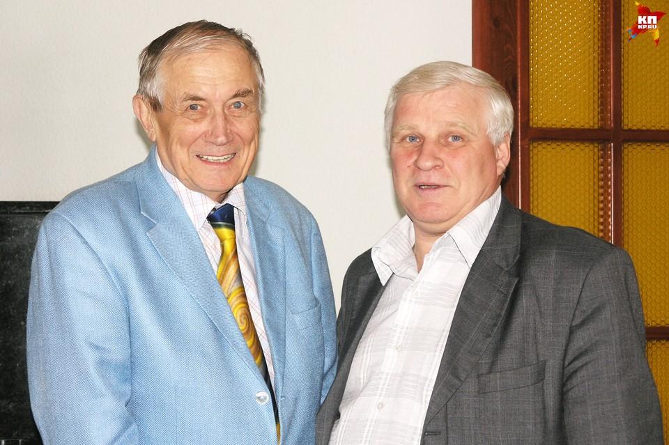 Евгений Евтушенко и Григорий Шалакин, 2004 год. Фото: Сергей Черемнов