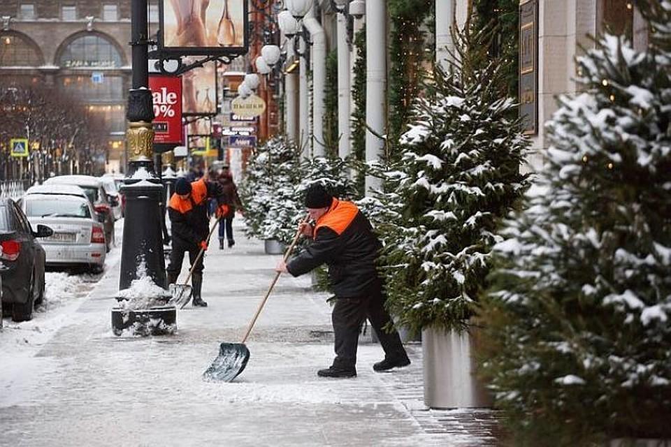 Дорожные службы Петербурга ликвидируют последствия снегопада