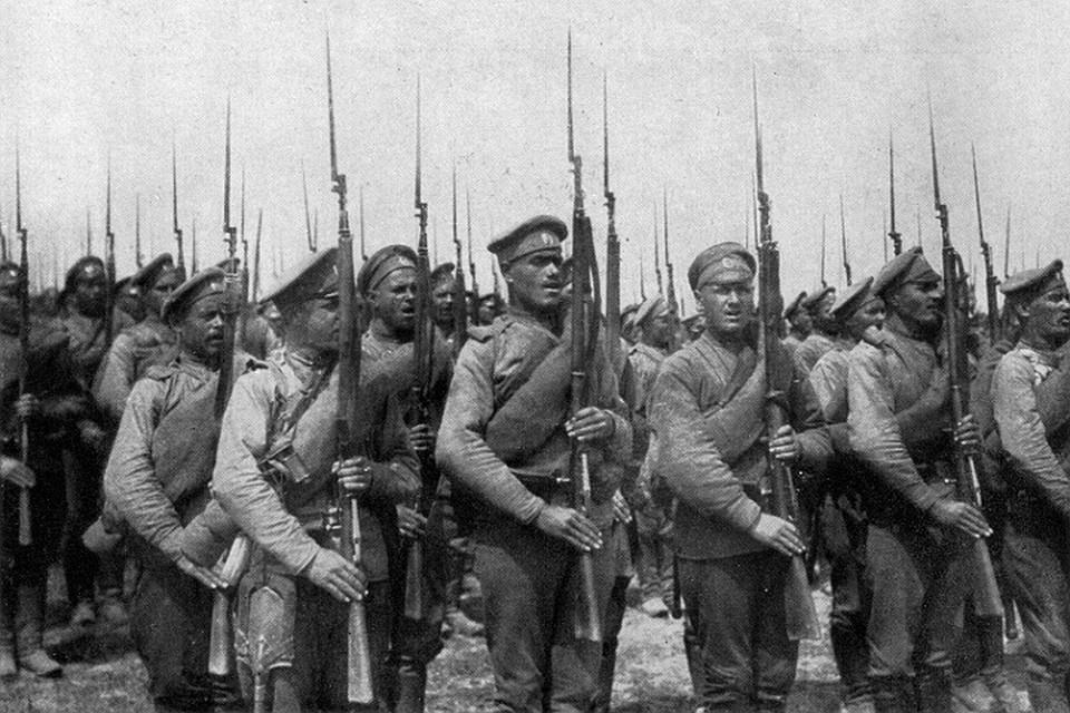 Солдаты русской армии.