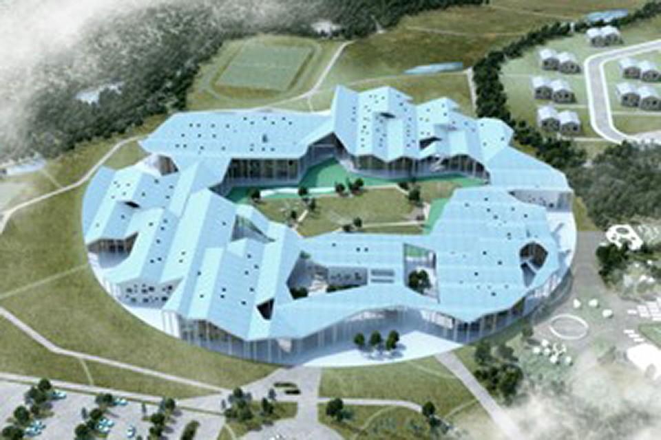 Умная школа - здание и поселок для детей-сирот