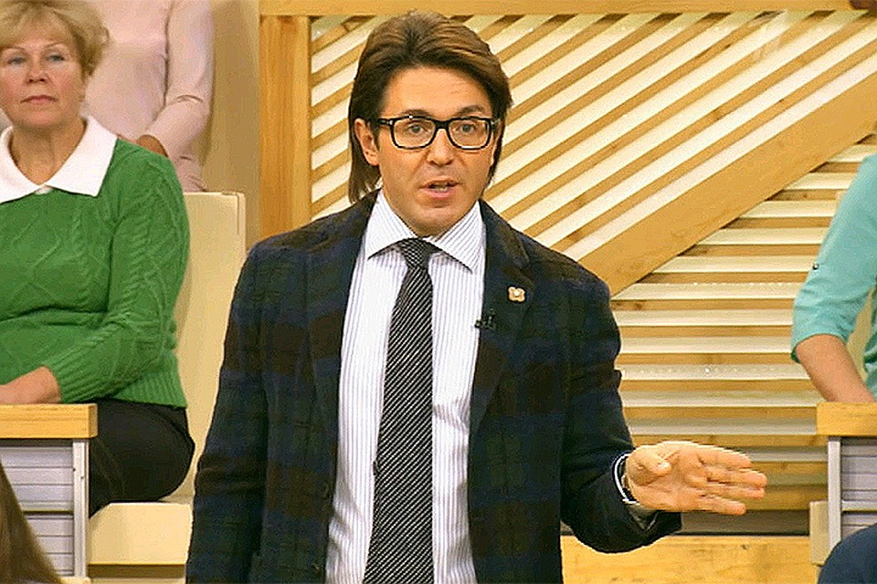 Андрей Малахов в эфире Первого канала.