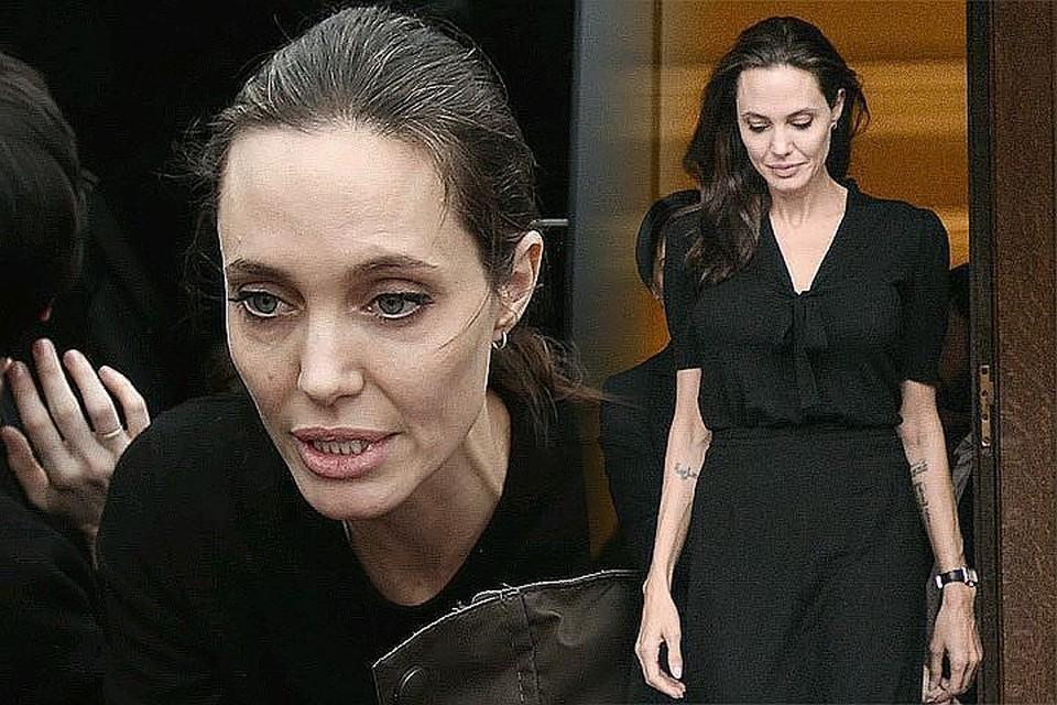 Анджелина сильно похудела из-за стресса, связанного с разводом.