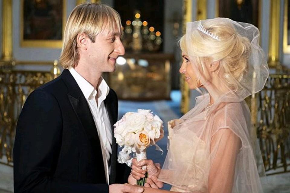 Евгений Плющенко и Яна Рудковская обвенчались после восьми лет брака.