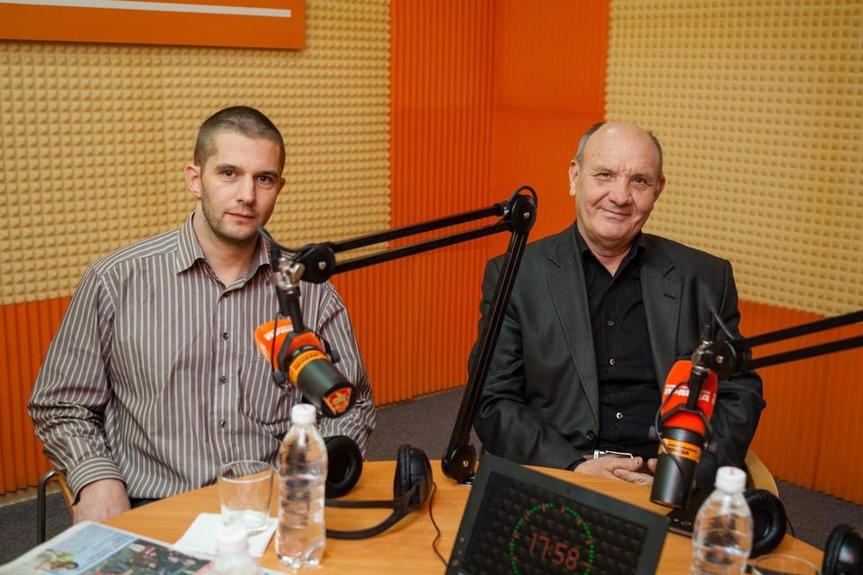 Глава многодетной семьи из Германии Евгений Мартенс и помощник уполномоченного по правам человека в СК Владимир Полубояренко