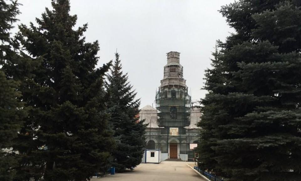 В соборе ведутся реставрационные работы