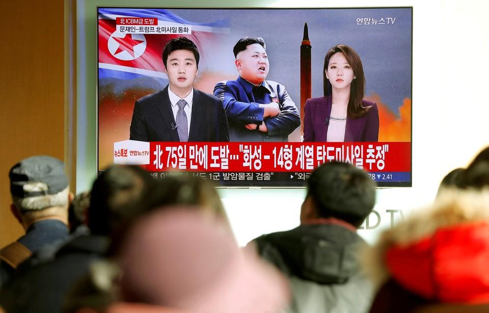 """Санкции стали ответом на недавнее испытание КНДР межконтинентальной баллистической ракеты """"Хвасон-15""""."""