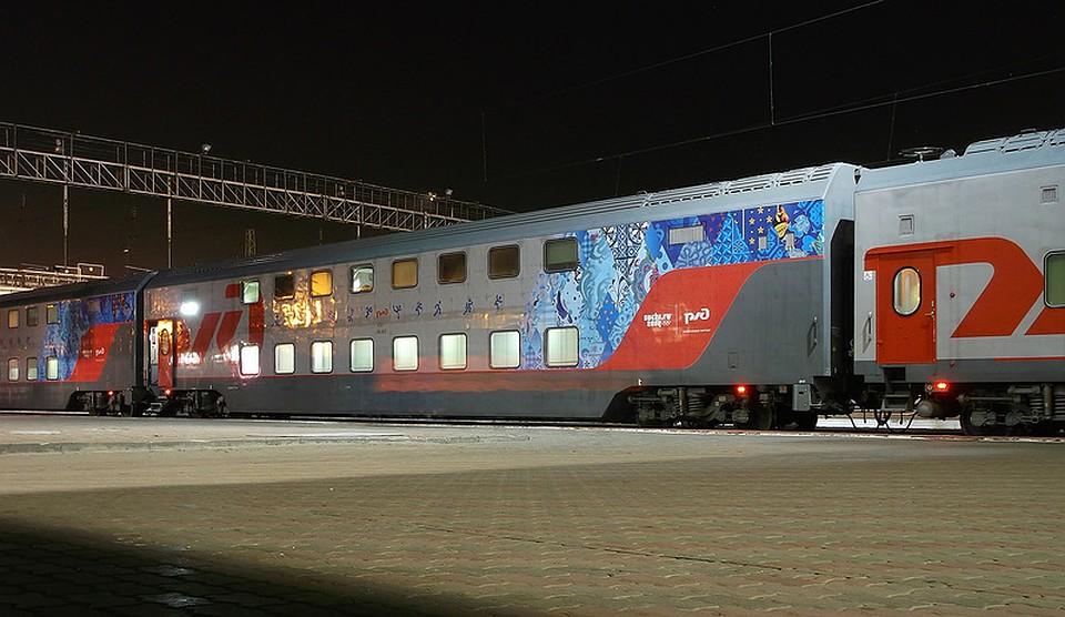 съёмки картинки двухэтажный поезд москва сочи подписи фото