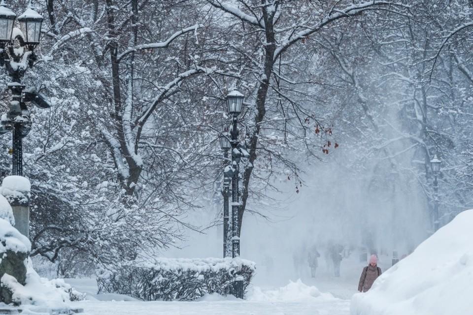 В Москве из-за сильного снегопада погиб человек