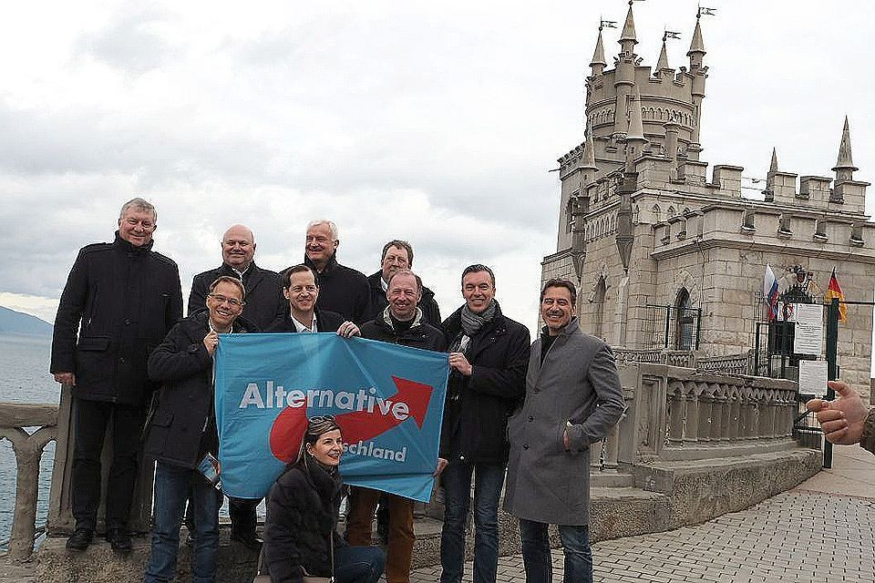Депутаты региональных парламентов от партии «Альтернатива для Германии» в Крыму.