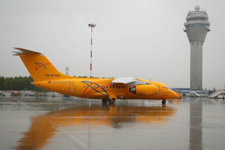 Самолет Ан-148 авиакомпании Саратовские авиалинии