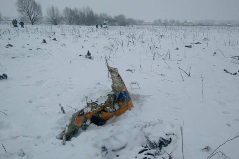 В воскресенье днем самолет Ан-148 потерпел крушение в Подмосковье