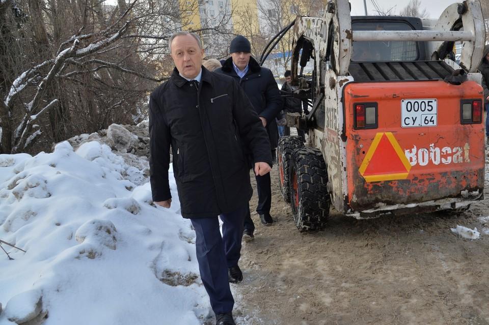 Валерий Радаев в микрорайоне Лесная Республика.