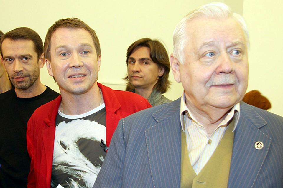 Олег Табаков с любимыми учениками - Евгением Мироновым и Владимиром Машковым